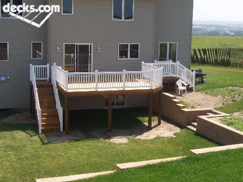 Amazing High Elevation Deck Picture Gallery Stair Option | Deck Ideas For Pool |  Pinterest | Deck Pictures, Decking And Backyard