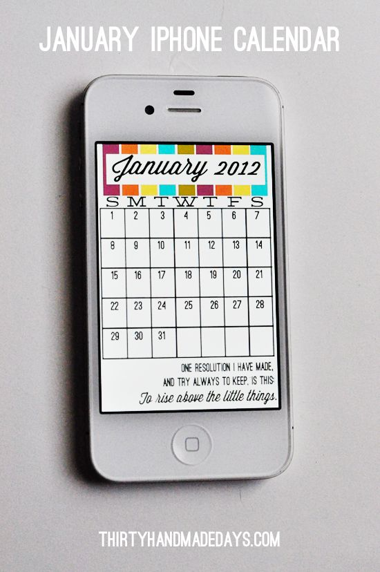 iPhone Calendar - just for fun :)