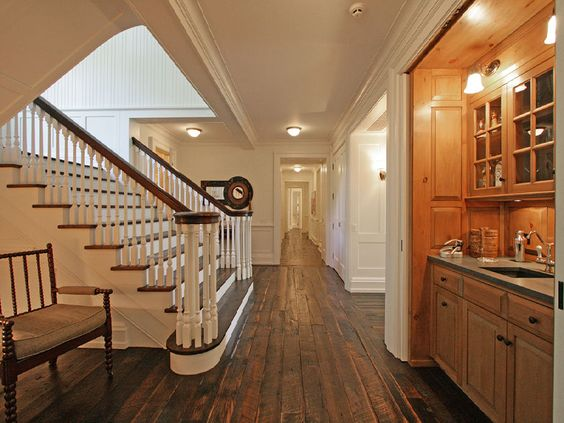 Reclaimed wood floors are among the most beautiful. I shall take the floors from my current house and use them in the new.
