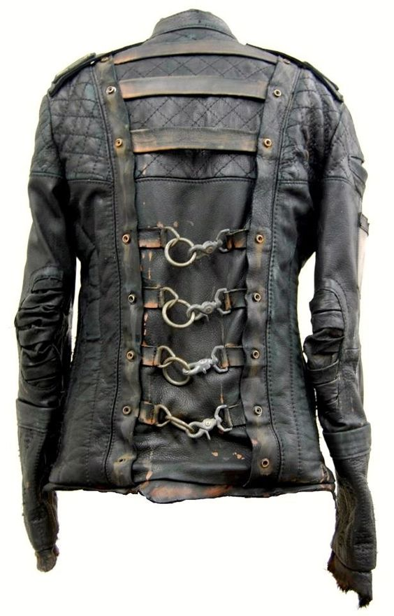 I think I kinda love this jacket. I mean, seriously: check out the hardware on that. You could face the apocalypse in that gear!