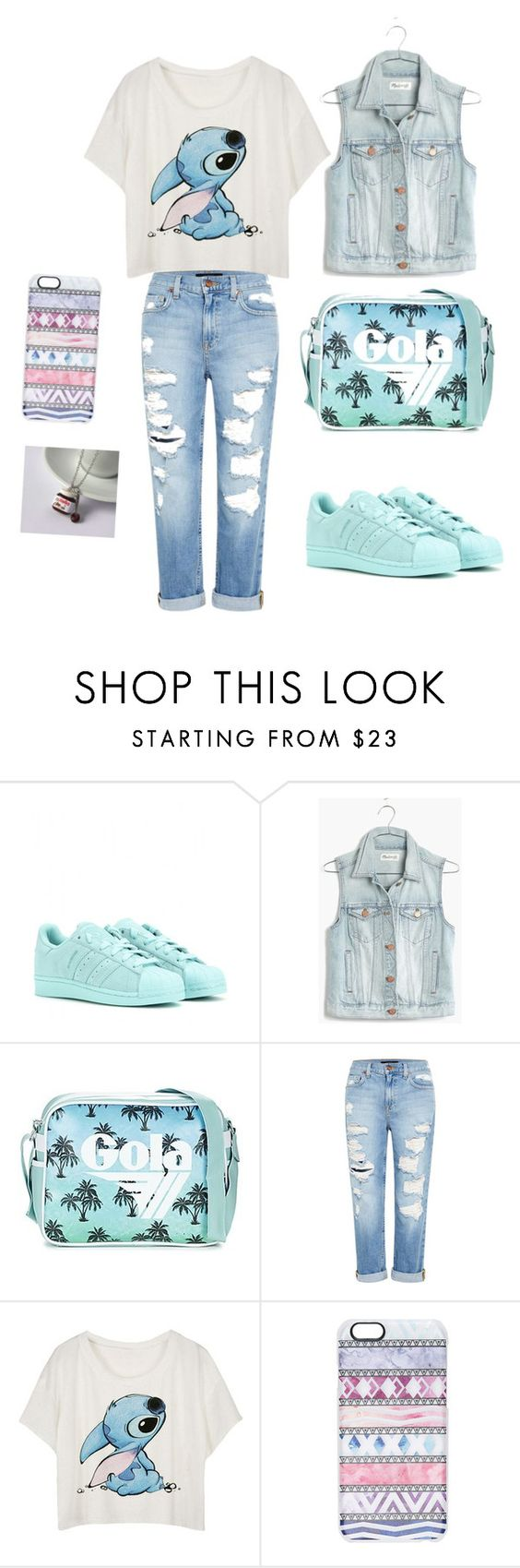 """""""Untitled #29"""" by zulfiyuwa ❤ liked on Polyvore featuring adidas, Madewell, Gola, Genetic Denim and Casetify"""