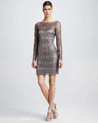 Beaded Cocktail Dress by Kay Unger New York at Neiman Marcus.