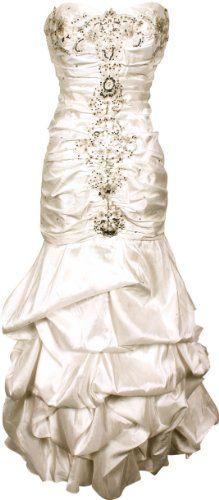 Beaded Taffeta Wedding Dress $49.99 Xsmall-3X: