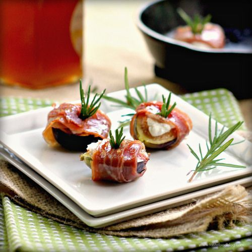Prosciutto Figs with Goat Cheese and Rosemary