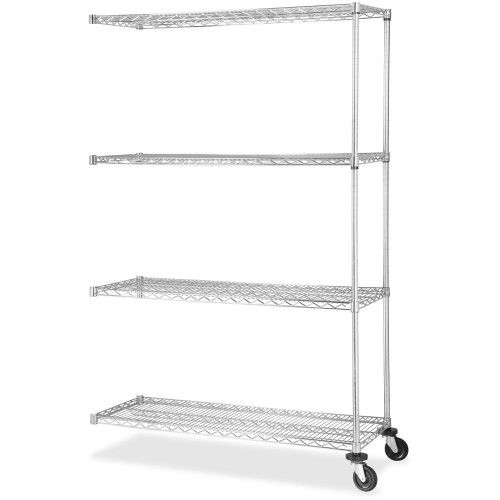 Lorell Industrial Chrome Wire Shelving Add-on Unit | Wire ...