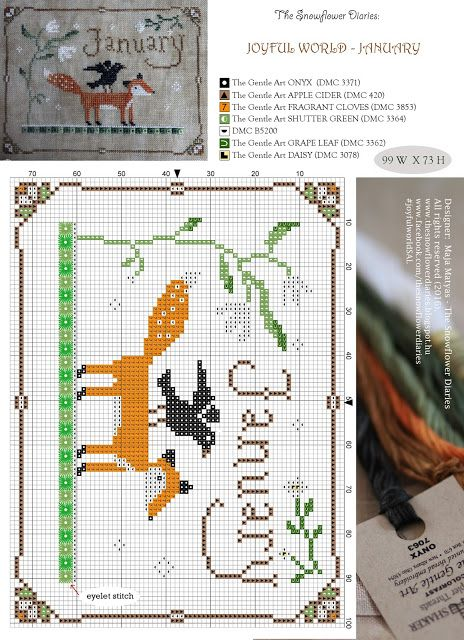 My dear Stitchers, I am so overwhelmed how many of you have already joined the 'Joyful World' SAL that starts today!:-) I will share every information, instruction and pattern here, on my blog, too