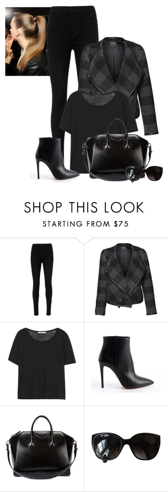 2016/899 by dimceandovski on Polyvore featuring T By Alexander Wang, Dex, J Brand, Prada, Givenchy and Chanel