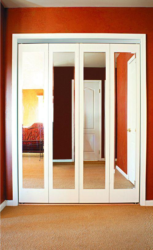 Mir Mel Bifold Doors Chrome Trim Customdoorandmirror Bifold