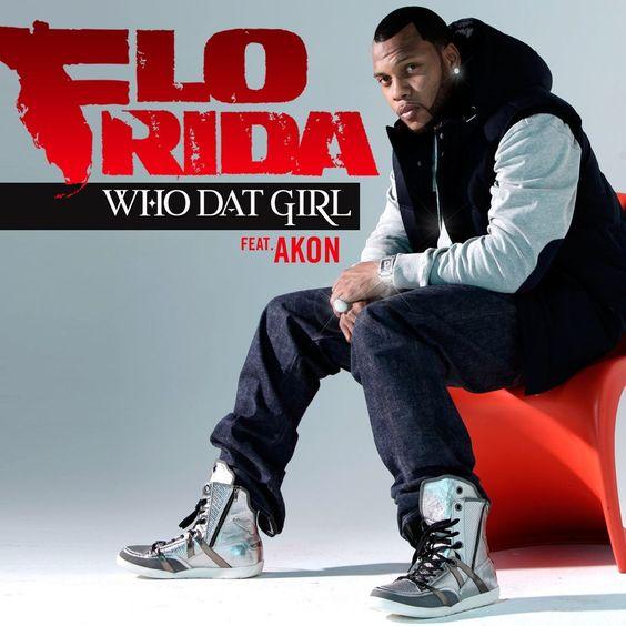 Flo Rida, Akon – Who Dat Girl (single cover art)