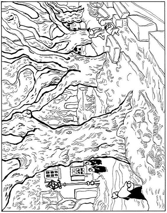 coloring page Vincent van Gogh Kids-n-Fun