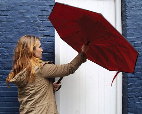 The KAZbrella drip-free umbrella by Riann Kazim