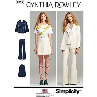 """Simplicity 8058D5 """"Misses Suit Separates Cynthia Rowley Collection"""" Sewing Pattern, Paper"""