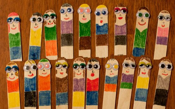 Make family members using popsicle sticks and googly eyes.   popsicle sticks, love, family, preschool, craft, homeschool