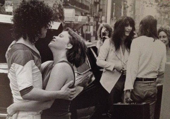 New York Dolls in NYC getting ready to go to Los Angeles for a couple of shows, 1972.