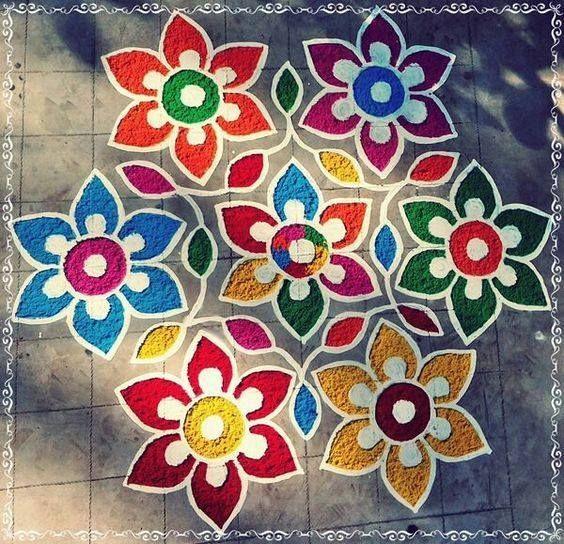 Radiant Rangoli Design From Radiant Rangoli On Facebook With