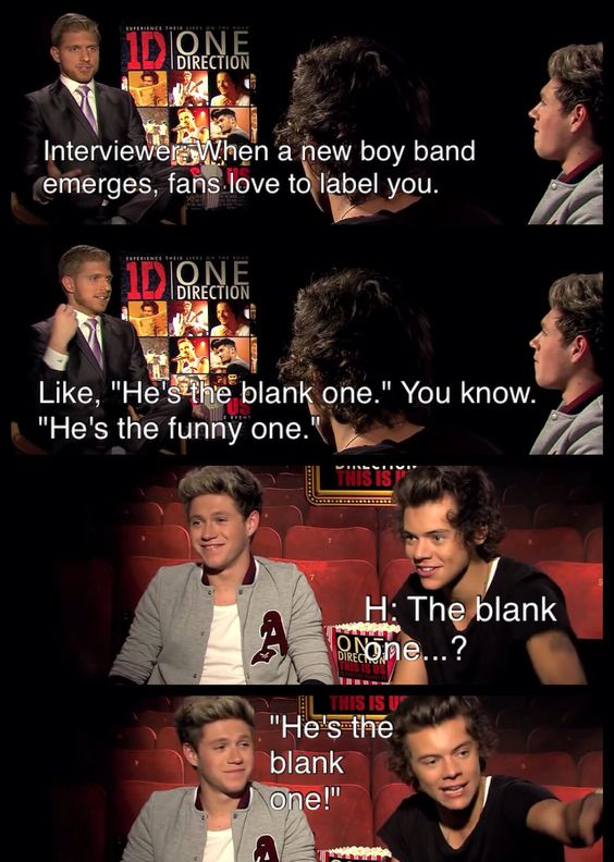 The blank one!!! XD One Direction | Funny Interview | ONE DIRECTION Interview: Harry Styles, Niall Horan, Zayn Malik, Liam Payne & Louis Tomlinson | Harry Styles