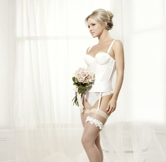 Ola Jordan models Boux Avenue's new bridal lingerie collection  www.brayola.com