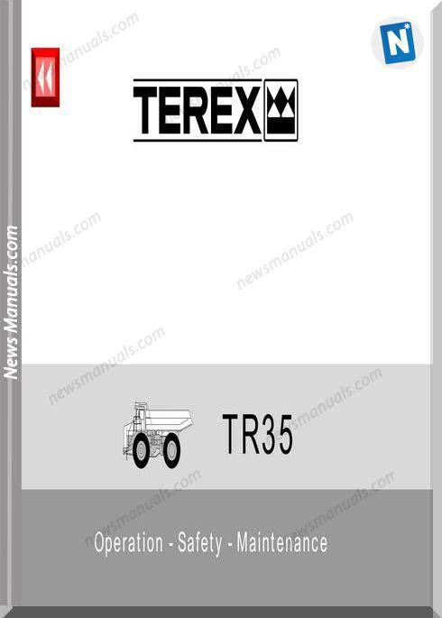 Terex Tr35 Operation Safety Maintenance Service Maintenance Electrical Diagram Maintenance