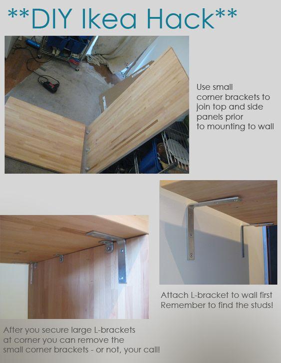 Diy ikea hack kitchen island tutorial construction 3 for Taglieri ikea