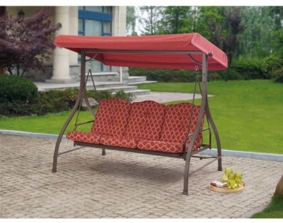3 Seat Outdoor Swing #seat #outdoor #swing #cushions #patio #garden #yard #furniture #home