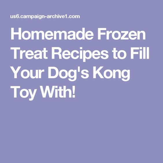 Homemade Frozen Treat Recipes to Fill Your Dog's Kong Toy With!