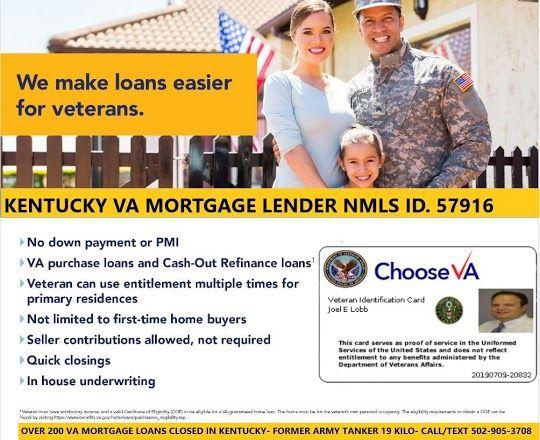 Kentucky Va Mortgage Loan Information Va Mortgages Va Mortgage Loans Mortgage Loans