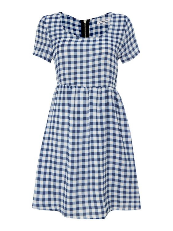 House of Fraser Glamorous Short Sleeved Gingham Swing Dress, $13; houseoffraser.co.uk     - ELLE.com