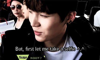 BTS | SUGA lol I love him,  hes too cute