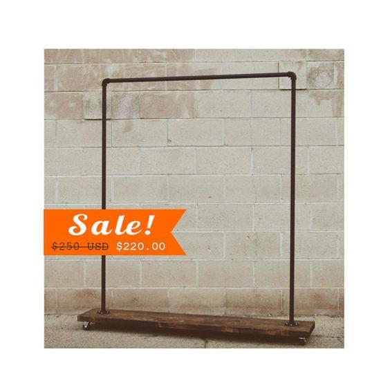 90S - Single Shelf Clothing Rack - Industrial Clothes Rack ...