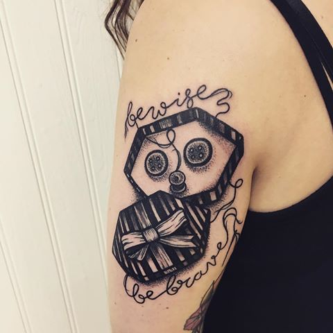 Image Result For Coraline Tattoo Coraline Tattoo Tattoos Skull Tattoo