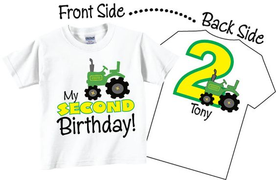 2nd Birthday Shirts With Tractor For Boys By TheCuteTee On Etsy