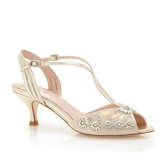 Ella Gold  Mothers Kid and Gold bridal shoes