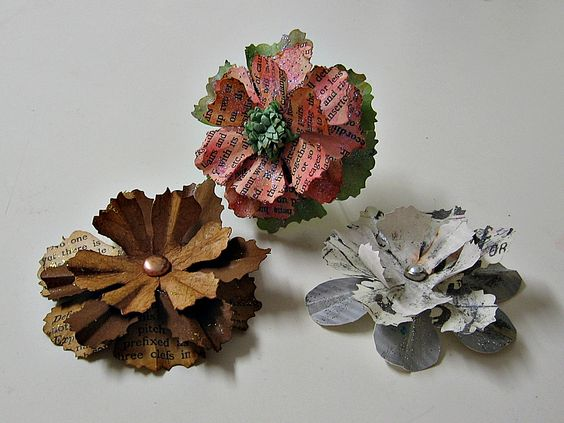 3-D Prima Inspired hand made flowers (swap) - Scrapbook.com