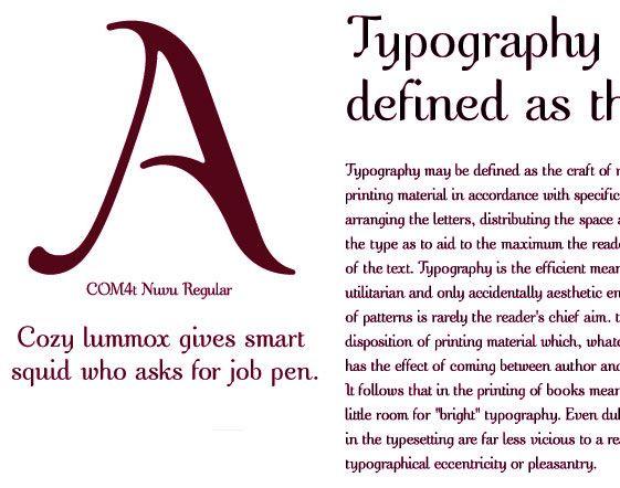 خطوط انجليزية احترافية Typography Prints Text