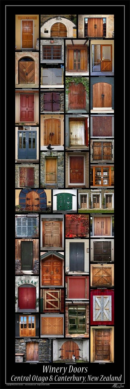 Winery / Cellar Doors of Central Otago & Canterbury, original photography & poster by Renee Dale