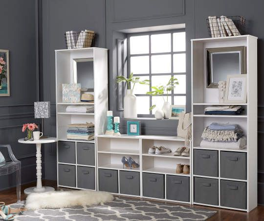 5 Shelf White Cube Organizer
