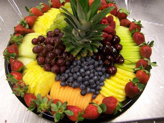 Arrangement of fresh fruit for events