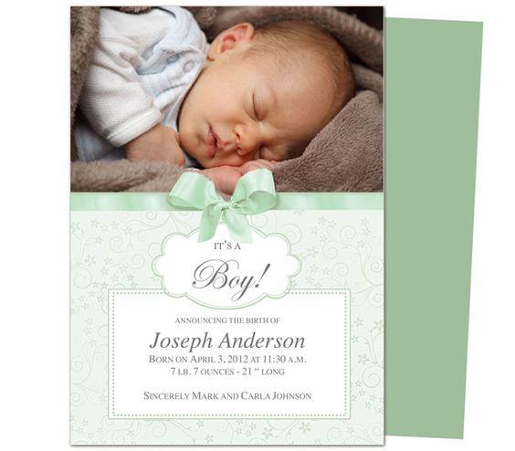 Celestine Birth Announcement Template Printable DIY baby – Diy Birth Announcements