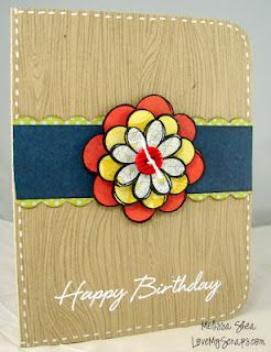 Love My Scraps: All the Pretty Flowers!: Scrapbooking Cards, Cards Birthday, Pretty Flowers, Card Ideas, Craft Ideas