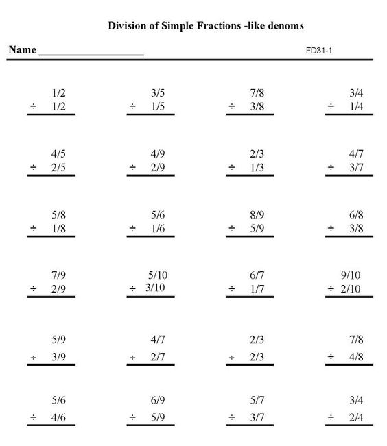 Subtracting Fractions with Unlike Denominators (A) | Math ...
