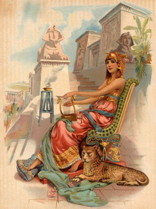 Egyptian woman playing lyre