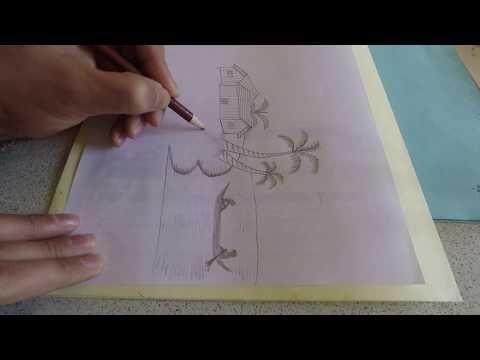 تعلم رسم منظر طبيعي للمبتدئين رسم سهل رسم منظر طبيعي سهل وجميل تعليم