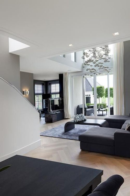 Modern Living Room Dominated By Neutral Colors: Modern Living Rooms, Inspiration