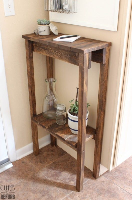 Under $10 to build a simple pallet table -- easy to build, could make any size!