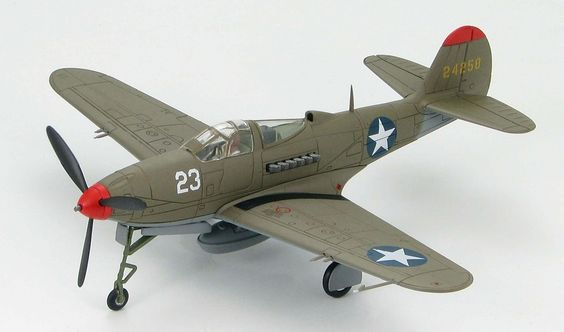 Hobby Master - 1:72 Air Power Series    Bell P-39K Airacobra, Lt. William F. McDonough, 40th FS, 35th FG, USAAF, New Guinea 1943    Metall-Fertigmodell im Maßstab 1:72, Spannweite: 140mm, Länge: 125mm.    Fahrwerk kann wahlweise in Flug- oder Landeposition dargestellt werden. Inklusive Aufstellständer.
