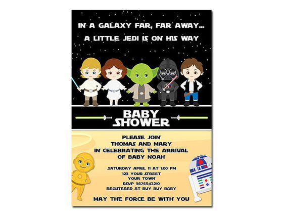 star wars baby showers star wars shower invitations etsy babies baby
