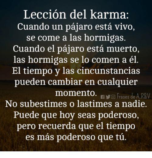 Via Me Me Karma Frases Positive Phrases Inspirational Quotes