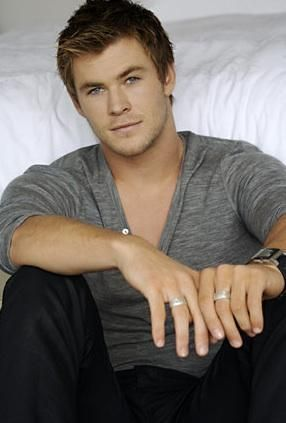 Chris Hemsworth...or Thor, as we know him best or most recently. Something about his eyes is very pretty.