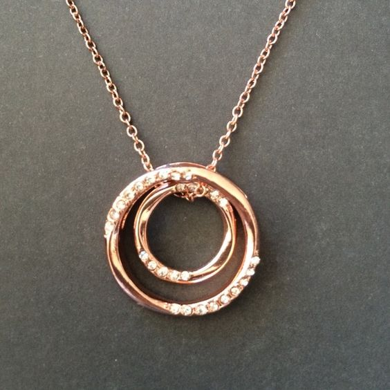 Sale -Rose gold pendant  Beautiful rose gold colored pendant  NWOT (ask me for jewelry bundles) Jewelry Necklaces