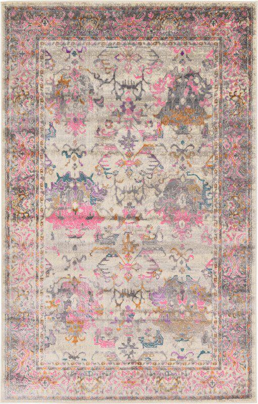 Charlena Oriental Beige Rug Beige Rug Pink Area Rug Rugs